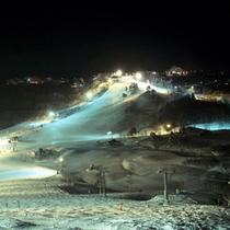 *斑尾スキー場(夜)