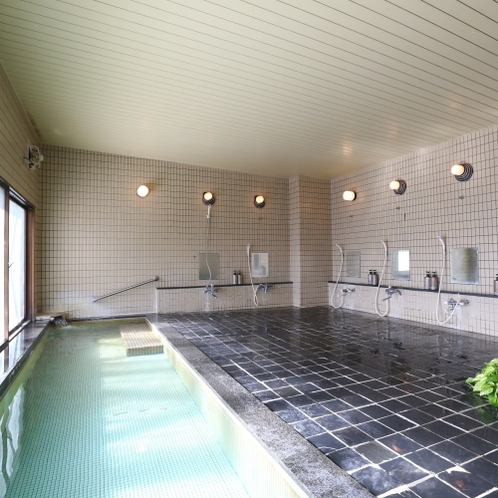 ■大浴場。24時間入浴可能です。
