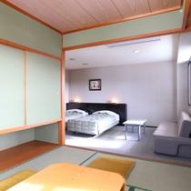 ■【本館・和洋室36平米】のお部屋です。窓からは四季折々の奥信濃の絶景も。