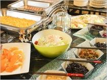 【ご朝食/福井の地産地哨を取り入れた和定食(ミニバイキング付)】