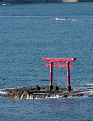 勝浦湾に浮かぶ平島