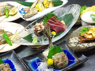 日帰りプラン 個室利用 ★ご夕食★ 『アワビ』または『金目鯛姿煮』より1つ選べます。