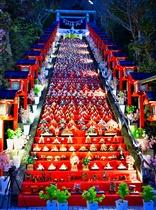 かつうらビッグひな祭り(遠見岬神社)ライトアップ