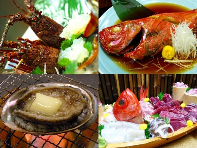 伊勢海老+アワビ+金目鯛姿煮+舟盛(満腹プラン)