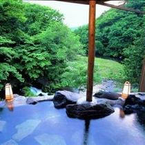 美景の貸切露天風呂。渓谷すら貸し切れる特別な場所。お花見、新緑、紅葉、雪見が愉しめる