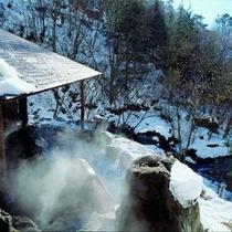 雪見露天風呂 渓流目の前の自然体験が出来る露天風呂