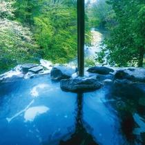 女性専用渓流沿い露天風呂「天与の湯」