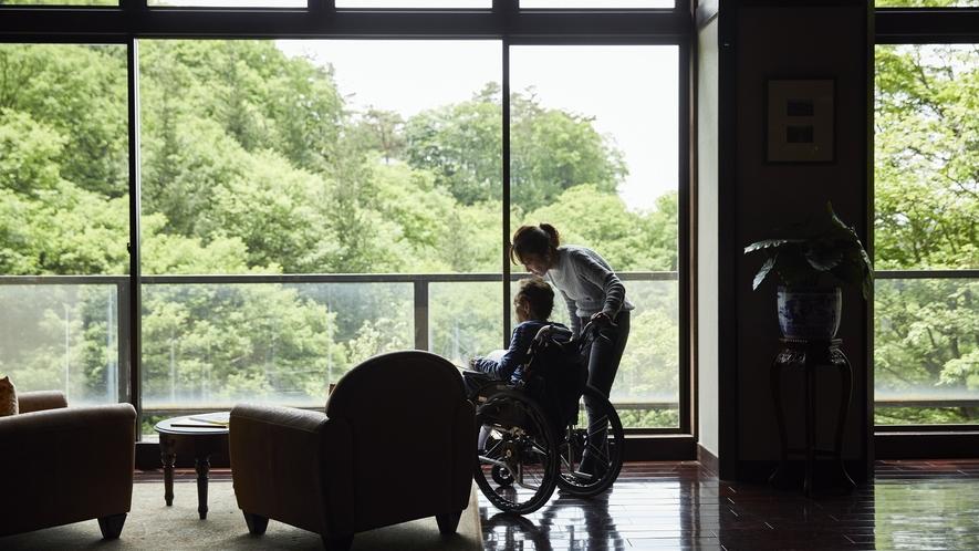 蔵書Lounge&Bar◆館内の車椅子でもご利用いただけます。