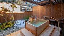 ・深山亭露天風呂付き客室一例
