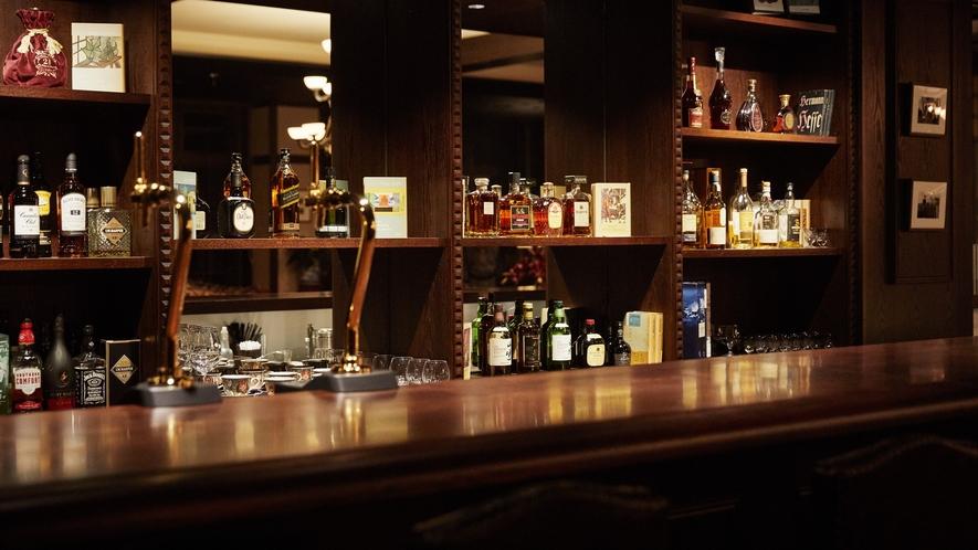 蔵書Lounge&Bar◆ご到着時にウェルカムドリンクのサービスがございます