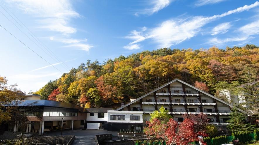 外観◆毎年、10月中旬頃から、蓼科の紅葉が始まります