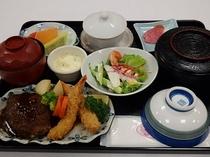 受験プラン(ハンバーグエビフライ定食)