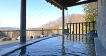 *展望露天風呂/ 素晴らしい眺めを独占しながら入る露天風呂は最高です。