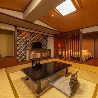 【リニューアル和洋室 12.5畳+ツイン】ベッドはシモンズ製