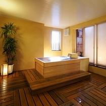 檜造りの大人の温泉貸切風呂「銀の湯」