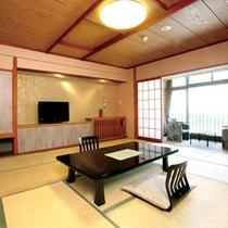 【和室または和洋室】ホテルきむらのスタンダードな客室でございます。10畳~18畳のゆったり空間です。