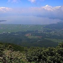磐梯山からの風景
