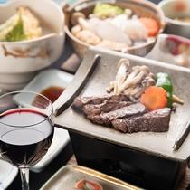 *[夕食/甲州ワインビーフプラン一例]ワイン(赤)グラス1杯サービス!