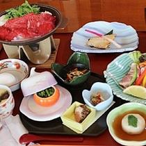 夕食一例 ~すき焼きプラン~