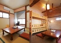 客室8畳(定員4名・和室又はロフト付き洋室)