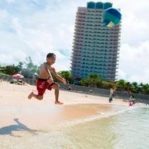 ビーチでジャンプ!
