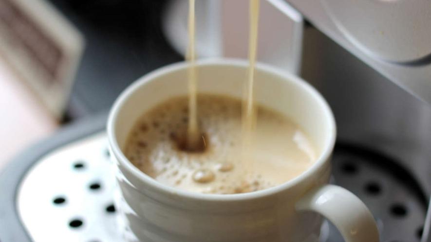 ロビーにてウエルカムコーヒーをご用意しております