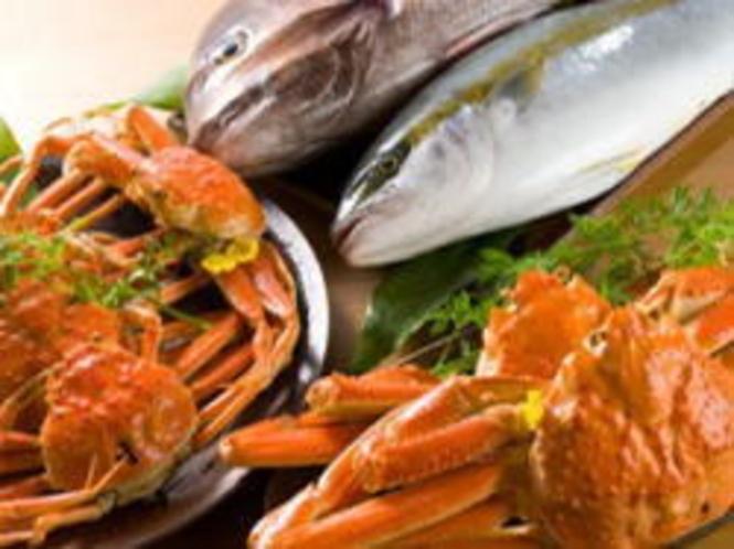 食材 蟹・鯛・カンパチ