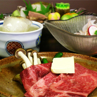 国産霜降り牛をメインとした京会席【2011.6月イメージ】