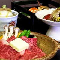 国産霜降り牛をメインとした京会席【2011.9月イメージ】