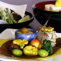 京野菜と湯葉をメインとした京会席【2011.10月イメージ】