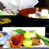 京野菜と湯葉をメインとした京会席!!生湯葉のお造りが絶品!!【2013.8月イメージ】