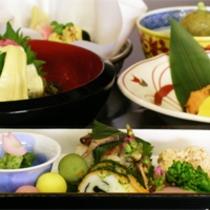 京野菜と湯葉をメインとした京会席!!生湯葉のお造りが絶品!!【2012.4月イメージ】