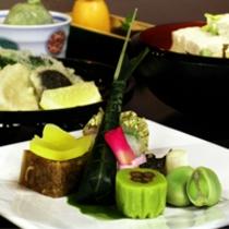 京野菜と湯葉をメインとした京会席【2011.5月イメージ】