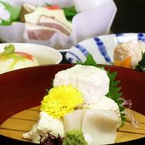 京野菜と湯葉をメインとした京会席!!生湯葉のお造りが絶品!!【2014.11月イメージ】