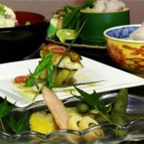 京野菜と湯葉をメインとした京会席【2011.7月イメージ】