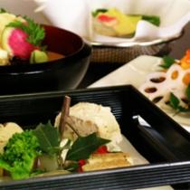 京野菜と湯葉をメインとした京会席【2012.2月イメージ】