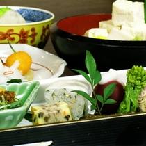 京野菜と湯葉をメインとした京会席!!生湯葉のお造りが絶品!!【2014.12月イメージ】