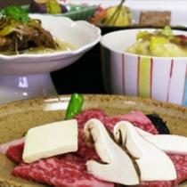 国産霜降り牛をメインとした京会席【2013.11月イメージ】