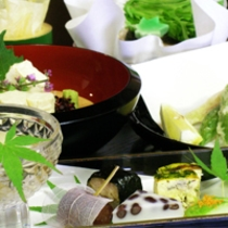 京野菜と湯葉をメインとした京会席!!生湯葉のお造りが絶品!!【2013.6月イメージ】