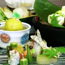 京野菜と湯葉をメインとした京会席!!生湯葉のお造りが絶品!!【2014.7月イメージ】