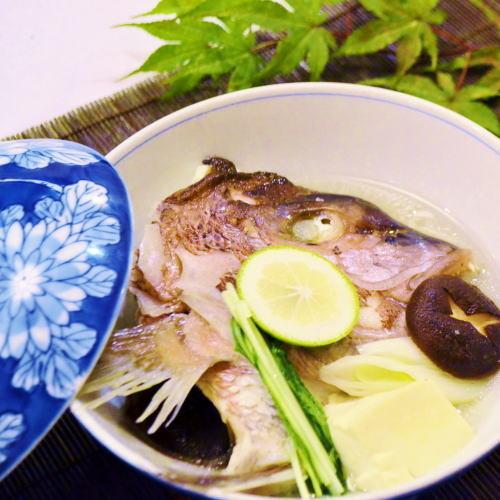 【別注料理】鯛の骨蒸し