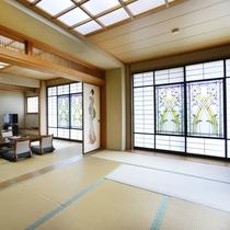 【特別室(17.5畳)】長崎ならではの情緒溢れる内装は一見。