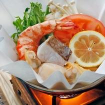 【うまかもん会席】海鮮トマトレモン鍋