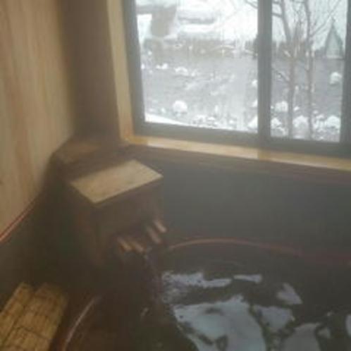 貸切風呂冬の風景