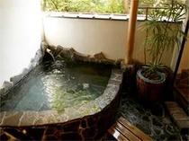 露天風呂つき客室専用露天 源泉100%