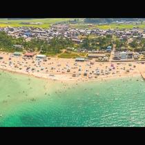 上空から見た海水浴場