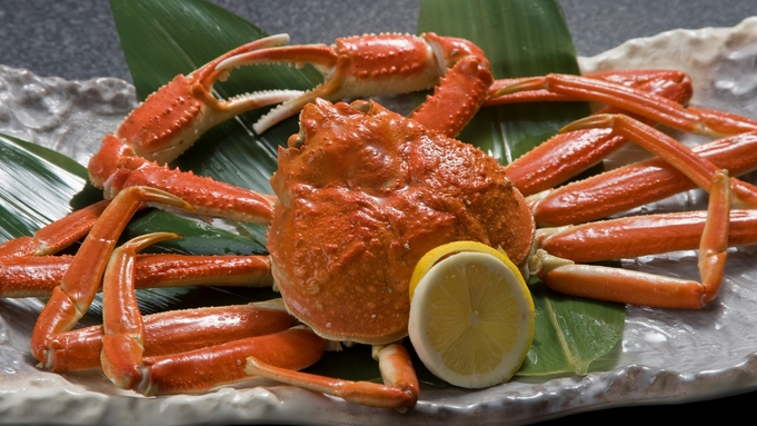 ■『夕食個室』◇特大ズワイ蟹がお一人に一匹付きます『ズワイ蟹プラン』二食付き■【添い寝無料】