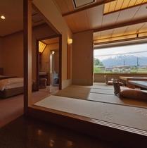 【別館悠楽】富士山展望風呂付和洋室