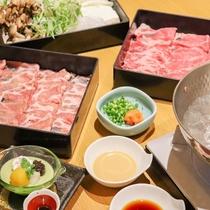 しゃぶしゃぶ食べ放題プラン ※季節によりお肉・お野菜以外の料理は変更があります。