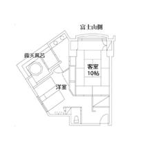 【本館】4F露天風呂付和洋室
